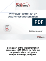 Why IATF 16949 Awareness Presentation En
