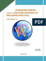Guía de Información General de Producción de Emulsiones Asfálticas
