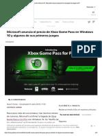 Xbox Game Pass en PC_ Microsoft anuncia el precio de la suscripción de juegos en PC
