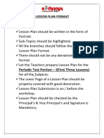 Lesson Plan Explanation and Format 19-20