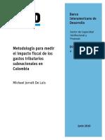 Metodología Para Medir El Impacto Fiscal de Los Gastos Tributarios Subnacionales en Colombia (10)