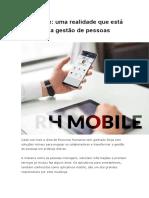 RH Mobile Uma Realidade Que Está Mudando a Gestão de Pessoas