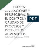Biosensores Aplicaciones y Perspectivas en El Control y Calidad de Procesos y Productos Alimenticios
