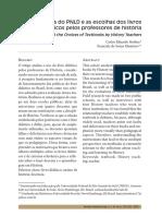 As Políticas Do PNLD e as Escolhas Dos Livros