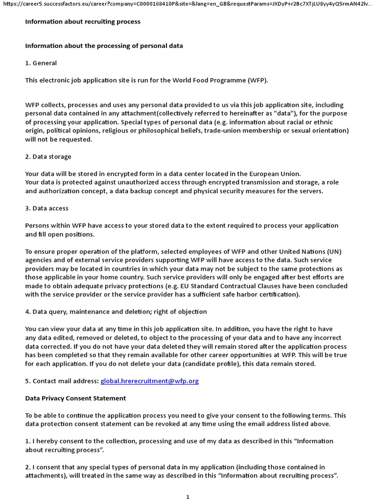 Job Description Print Preview | Informação Pessoalmente
