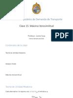 ICT2213 – Clase 15 Máxima Verosimilitud