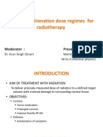 Altered Fractionation Dose Regimes for Radiotherapy