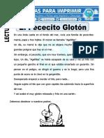Ficha de El Pececito Glotón Para Primaria