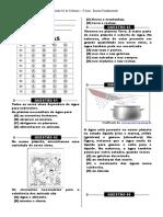 Simulado 2 - (3º Ano E.F - Ciências)