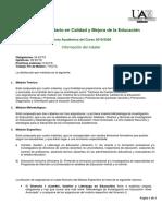 Oferta Academica Calidad y Mejora 19-20