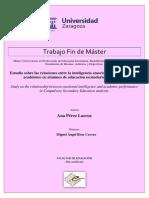 TAZ-TFM-2017-132 Estudio Universidad Zaragoza Inte Emocio Tendimiento Alumnos Bachillerato