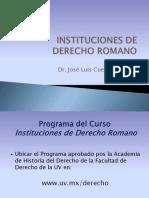 Curso de Instituciones de Derecho Privado Romano