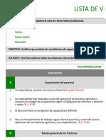 Pauta de Auto Evaluación de Condiciones de Seguridad Del Uso Plaguicidas Según Protocolo MINSAL