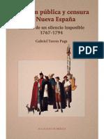 Torres Puga, Opinion Publica y Censura