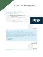 Cidadania Fiscal - Uma Receita Para o Brasil - AV 3