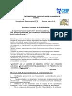 Comunicado Departamental Nª 4 de Soriano