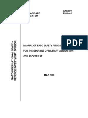 NATO Manual on Storage of Ammo | Explosion | Ammunition