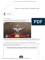 Socialism Wins - Venezuela Crushes USA in _Friendly_ Soccer Match