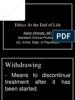 Ethics at the End-Of-Life