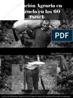Edgar Raúl Leoni Moreno - Evolución Agraria en Venezuela en Los 60, Parte I