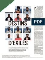 """Reportage """"Destin d'Exilés"""", Le Monde Edition spéciale 11/06/2019"""