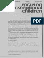 focus on exceptional children