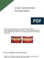 Afilado de Instrumentos Periodontales