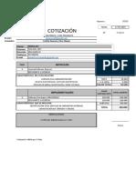 Cotizacion Reinaldo Pan Del Rey