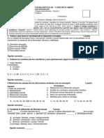 Evaluaciones Ciencias Naturales II Quimestre
