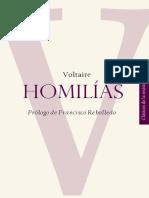 Homilias - Voltaire