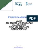 Étudier en Argentine