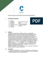 Especializacion en Ergonomia Riesgos Disergonomicos