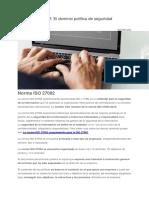 Norma ISO 27002 - El Dominio Política de Seguridad