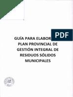Guía Para La Elaboración Del Plan Provincial de Gestión Integral de Residuos Sólidos Municipales
