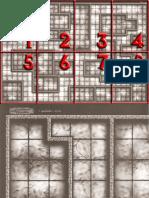 D&D 3E - Livro Do Mestre 3.5 - Mapa de Masmorra - Biblioteca Élfica