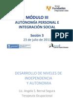 autonomía personal e integración social