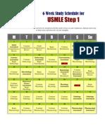 How to Study USMLE Step 1- 42 Days