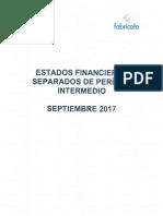 Estados Financieros Separados 3q17