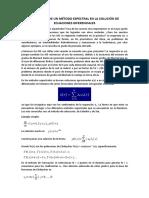 Aplicación de Un Método Espectral en La Solución de Ecuaciones Diferenciales