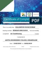 Certificate R & AC