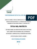 Estudios Sobre Los Negocios Fiduciarios Aplicados en El Ámbito Socio Económico de Las Personas Natural y Jurídicas en La Ciudad de Guayaquil