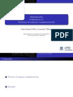 Conferencia 11 Optimizacion Holguras Complementarias