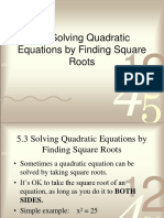 5.3 Solve Using Square Roots Day 1 - Day 2