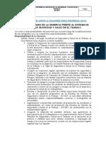 Documento de Apoyo a Talleres Sena Pedregal-2019-Roles y Responsabilidades en Sst