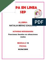 Merazizaguirre_Natalia _M19 S1 AI2 Funciones Lineales