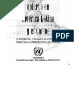 El regionalismo abierto en américa latina y el caribe