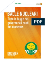 VERDI. Dossier Balle Nucleari