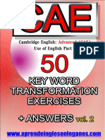 CAE C1 Advanced 50 Key Word Transformations