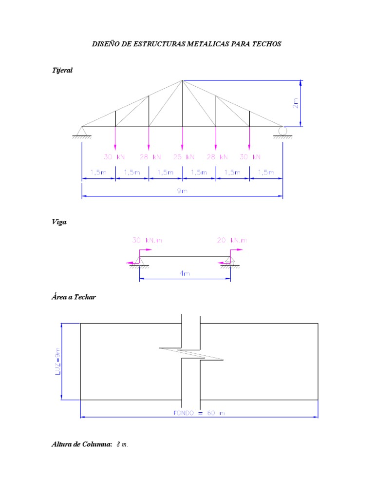 Dise o de estructuras metalicas para techos for Estructuras metalicas para tejados