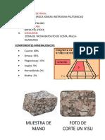 clasificacion de rocas mineralogia